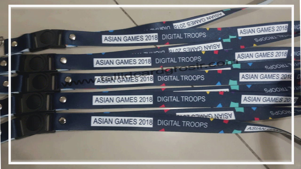 Grosir Tali ID Card Asian Games 2018 Digital Troops